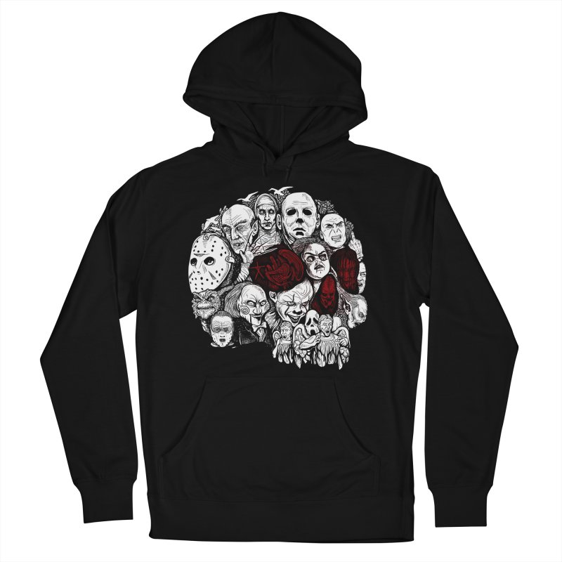Terror Men's French Terry Pullover Hoody by Red Bug's Artist Shop