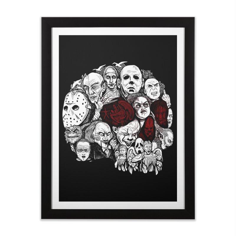 Terror Home Framed Fine Art Print by Red Bug's Artist Shop