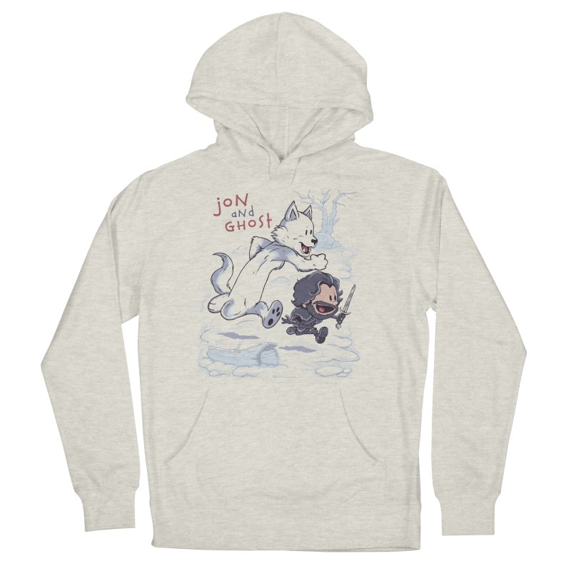Jon and Ghost Men's French Terry Pullover Hoody by Red Bug's Artist Shop