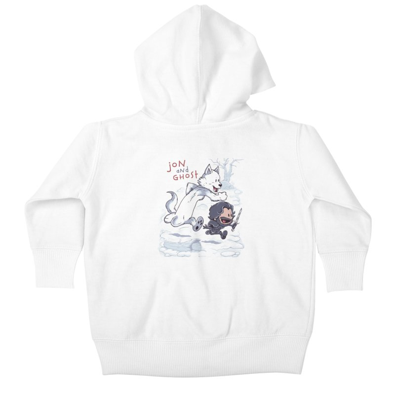 Jon and Ghost Kids Baby Zip-Up Hoody by Red Bug's Artist Shop