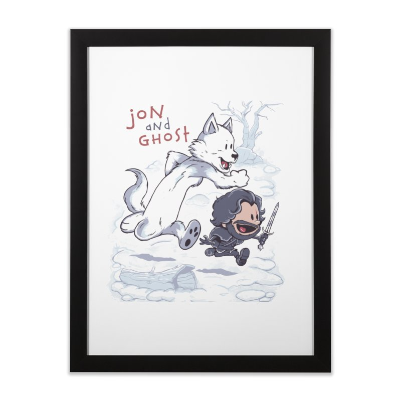 Jon and Ghost Home Framed Fine Art Print by Red Bug's Artist Shop