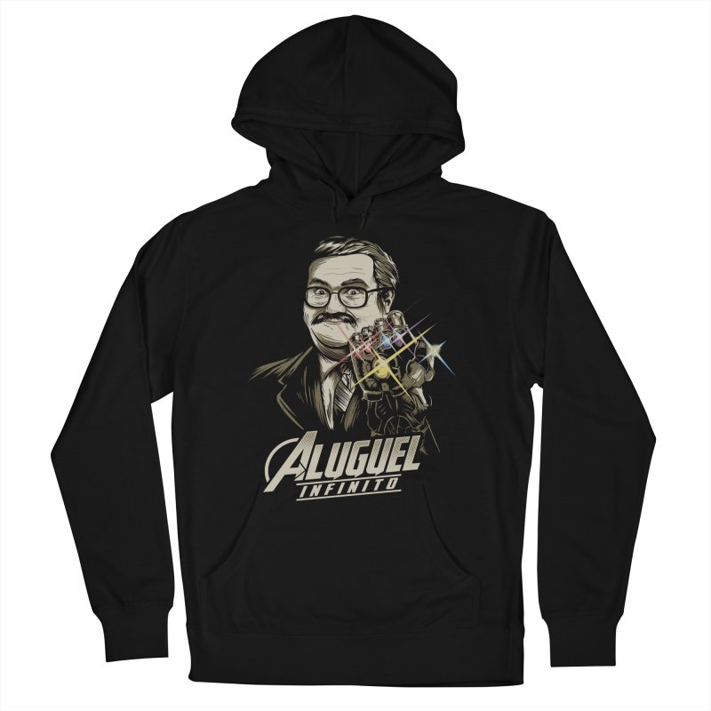 Aluguel Infinito Men's French Terry Pullover Hoody by Red Bug's Artist Shop