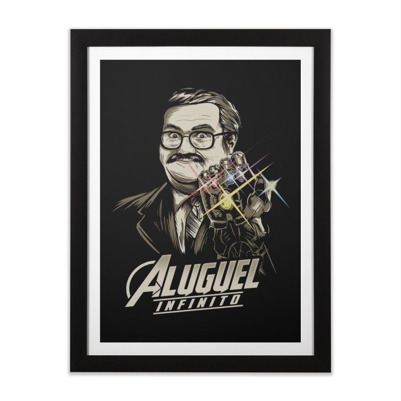 Aluguel Infinito Home Framed Fine Art Print by Red Bug's Artist Shop