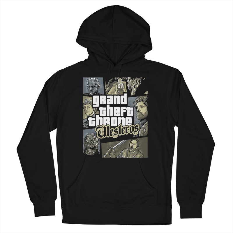 Grand Theft Throne Men's French Terry Pullover Hoody by Red Bug's Artist Shop