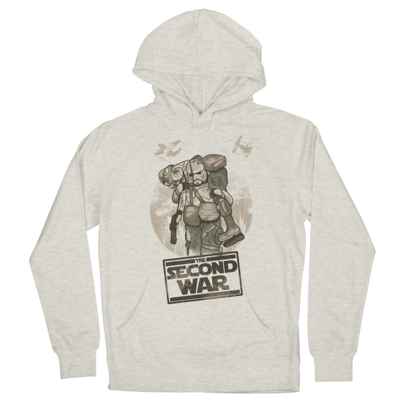 Second War Men's French Terry Pullover Hoody by Red Bug's Artist Shop