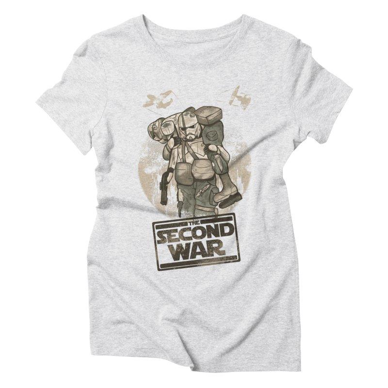 Second War Women's Triblend T-Shirt by Red Bug's Artist Shop
