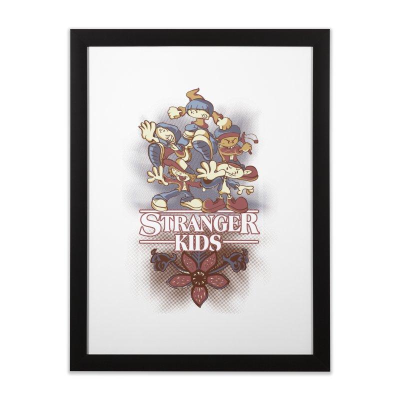 Stranger Kids Home Framed Fine Art Print by Red Bug's Artist Shop