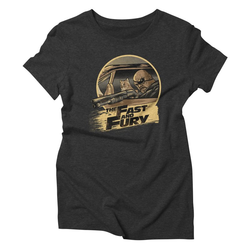 Fast and Fury Women's Triblend T-Shirt by Red Bug's Artist Shop