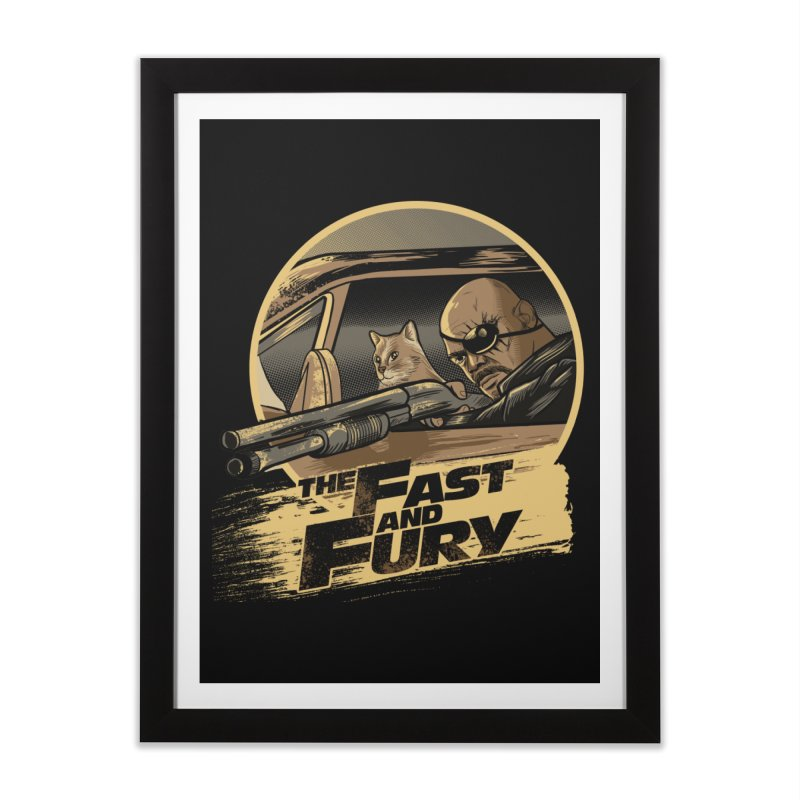Fast and Fury Home Framed Fine Art Print by Red Bug's Artist Shop