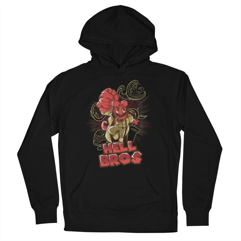 Hell Bros Men's French Terry Pullover Hoody by Red Bug's Artist Shop