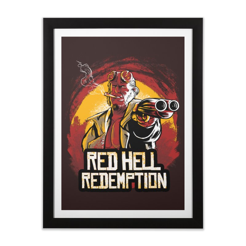 Red Hell Home Framed Fine Art Print by Red Bug's Artist Shop