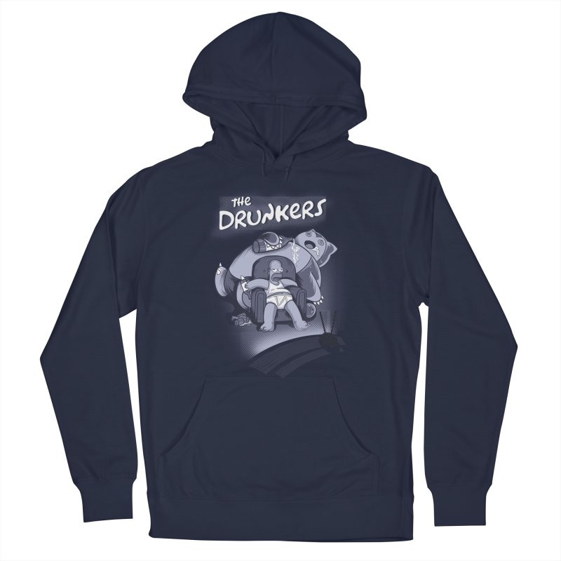 The Drunkers Men's French Terry Pullover Hoody by Red Bug's Artist Shop