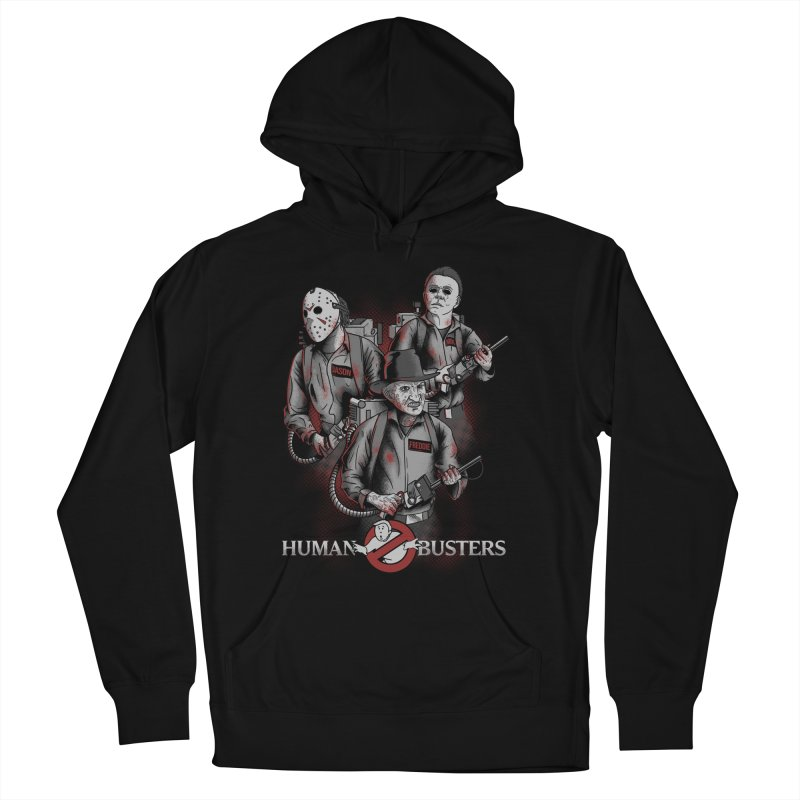 Human Busters Men's French Terry Pullover Hoody by Red Bug's Artist Shop
