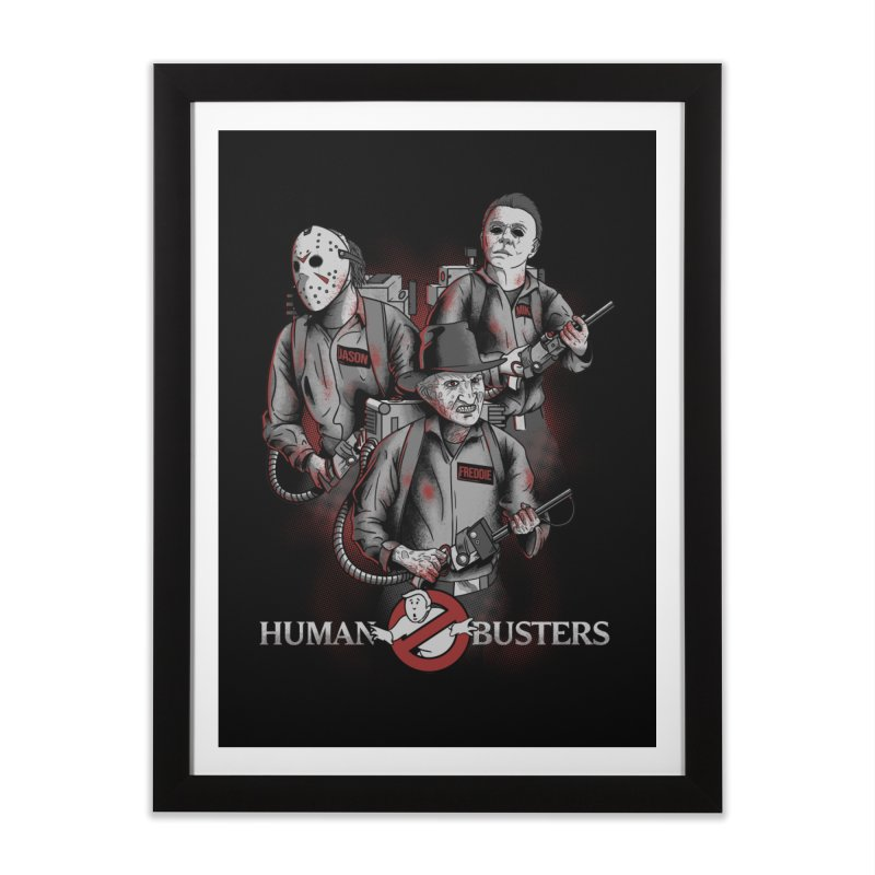 Human Busters Home Framed Fine Art Print by Red Bug's Artist Shop