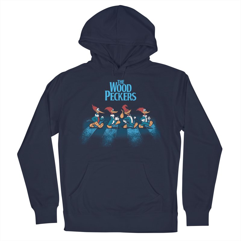 The Woodpeckers Men's French Terry Pullover Hoody by Red Bug's Artist Shop