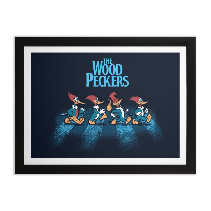 The Woodpeckers Home Framed Fine Art Print by Red Bug's Artist Shop