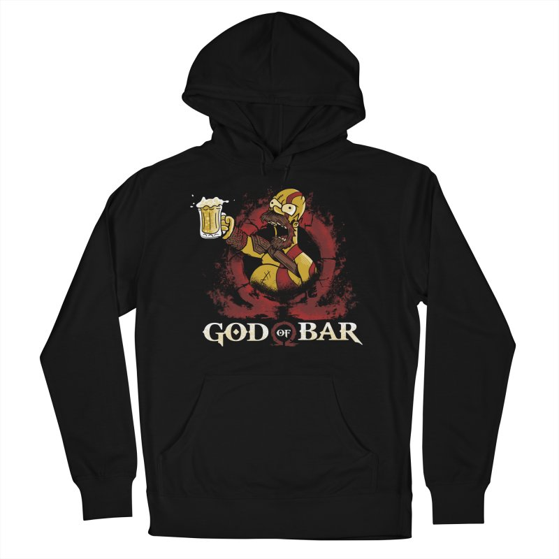 God of Bar Men's French Terry Pullover Hoody by Red Bug's Artist Shop