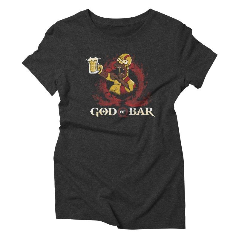 God of Bar Women's Triblend T-Shirt by Red Bug's Artist Shop