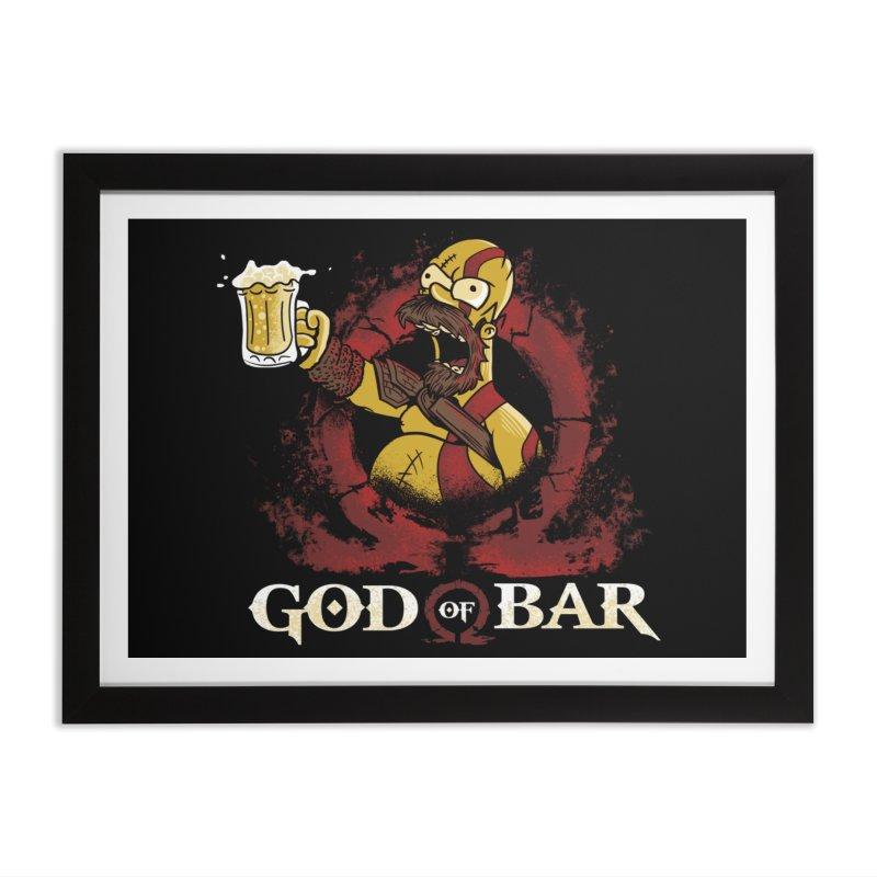God of Bar Home Framed Fine Art Print by Red Bug's Artist Shop