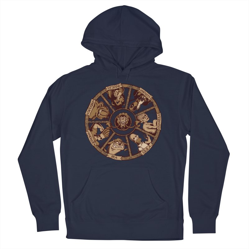 Sete Pecados Men's French Terry Pullover Hoody by Red Bug's Artist Shop
