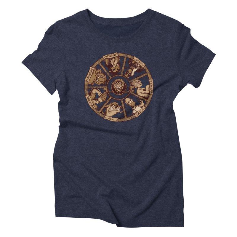 Sete Pecados Women's Triblend T-Shirt by Red Bug's Artist Shop
