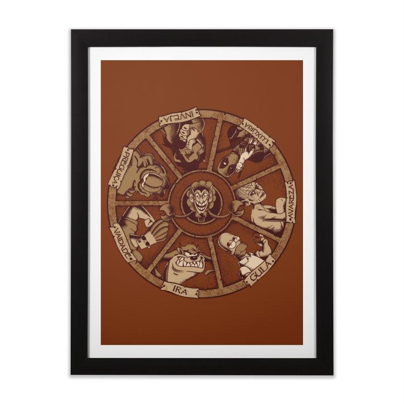 Sete Pecados Home Framed Fine Art Print by Red Bug's Artist Shop