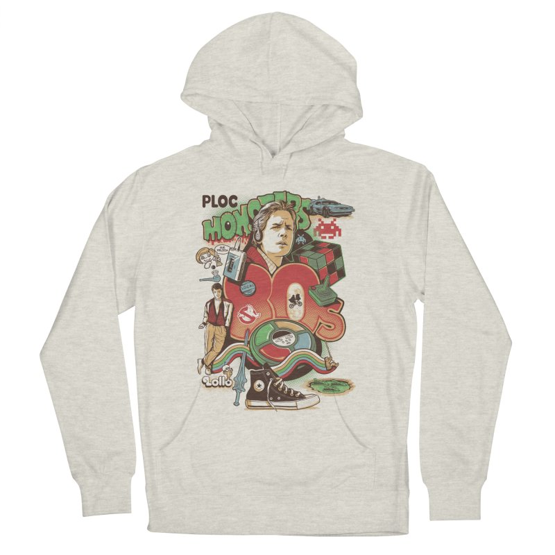Anos 80 Men's French Terry Pullover Hoody by Red Bug's Artist Shop
