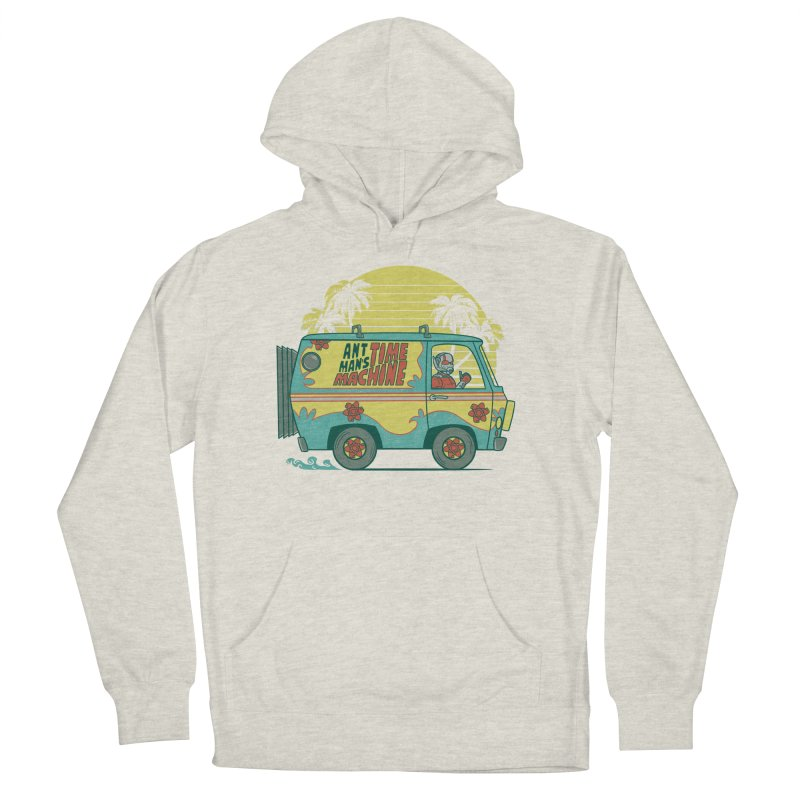 Time Machine Men's French Terry Pullover Hoody by Red Bug's Artist Shop