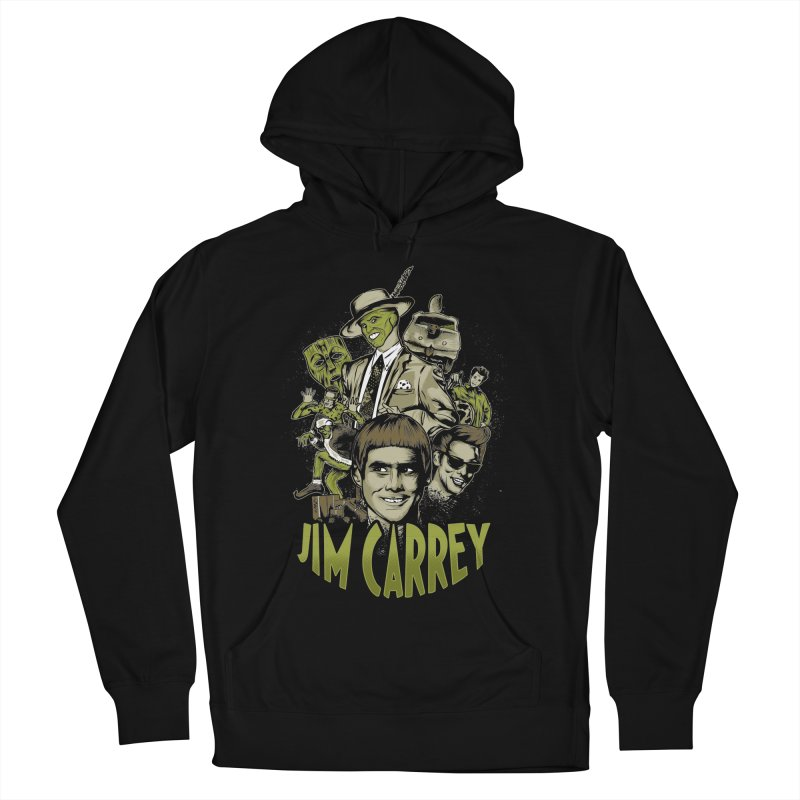 Jim Carrey Men's French Terry Pullover Hoody by Red Bug's Artist Shop