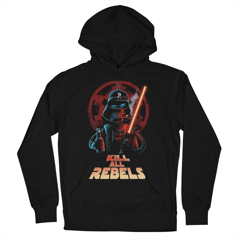 Kill all rebels Men's French Terry Pullover Hoody by Red Bug's Artist Shop