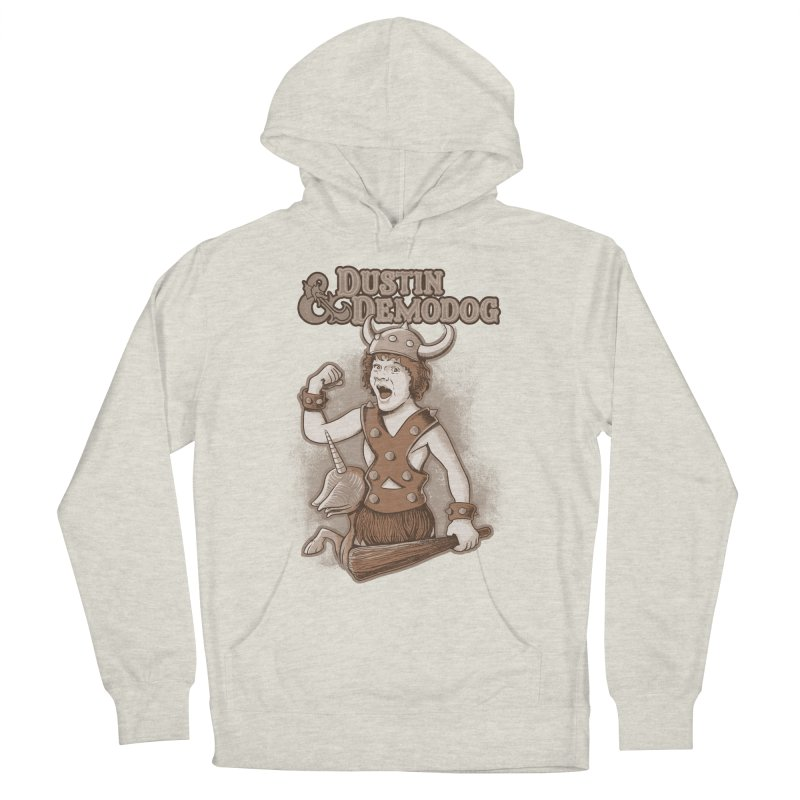 Dustin e Demodog Men's French Terry Pullover Hoody by Red Bug's Artist Shop
