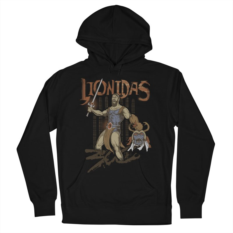 Lionidas Men's French Terry Pullover Hoody by Red Bug's Artist Shop