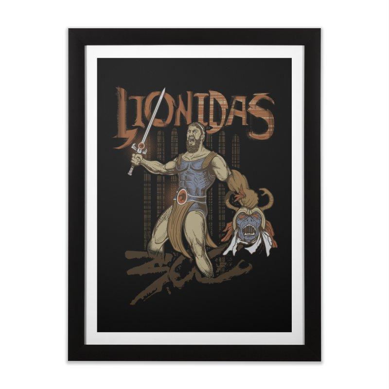 Lionidas Home Framed Fine Art Print by Red Bug's Artist Shop