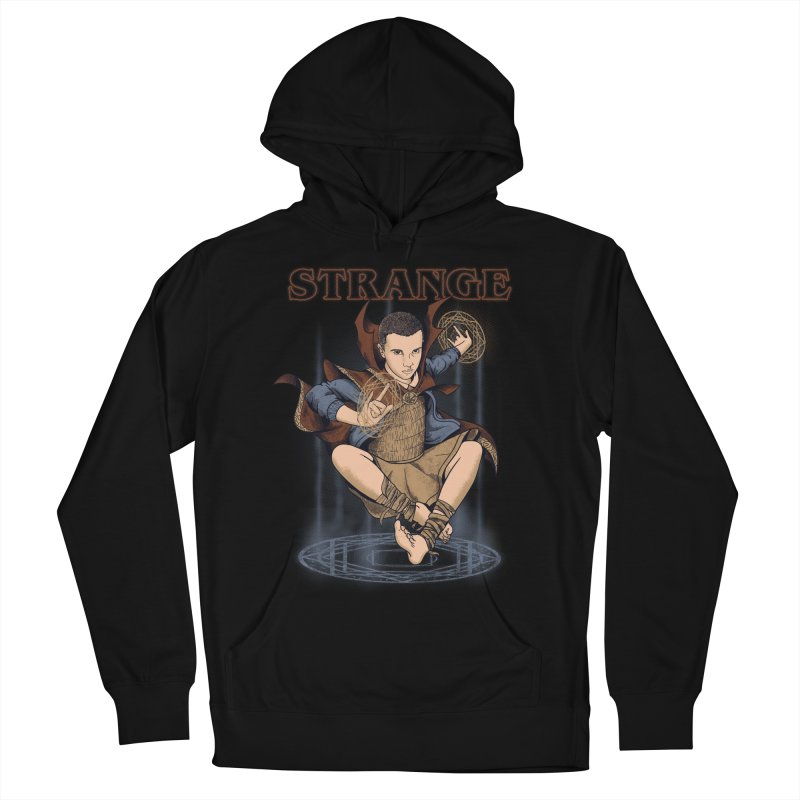 Strange Men's French Terry Pullover Hoody by Red Bug's Artist Shop