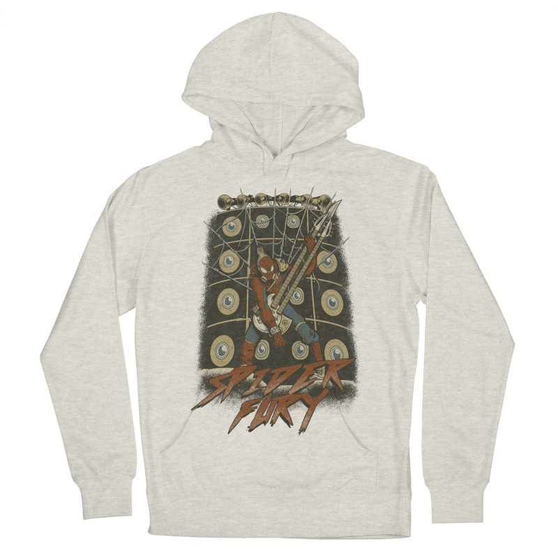 Spider Fury Men's French Terry Pullover Hoody by Red Bug's Artist Shop