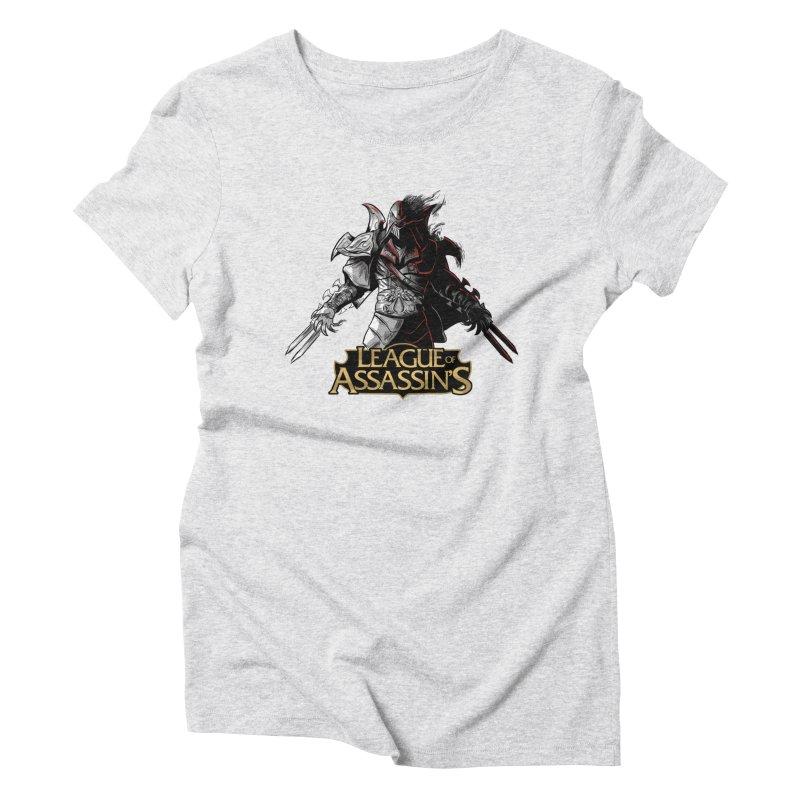 League of Assassin's Women's Triblend T-Shirt by Red Bug's Artist Shop