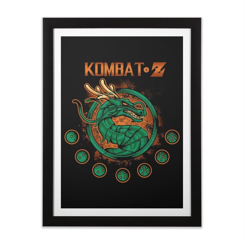 Kombat Z Home Framed Fine Art Print by Red Bug's Artist Shop
