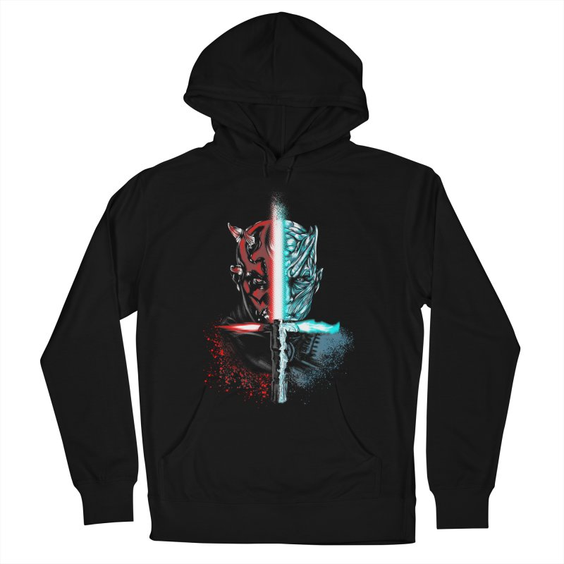 Dark Winter Men's French Terry Pullover Hoody by Red Bug's Artist Shop