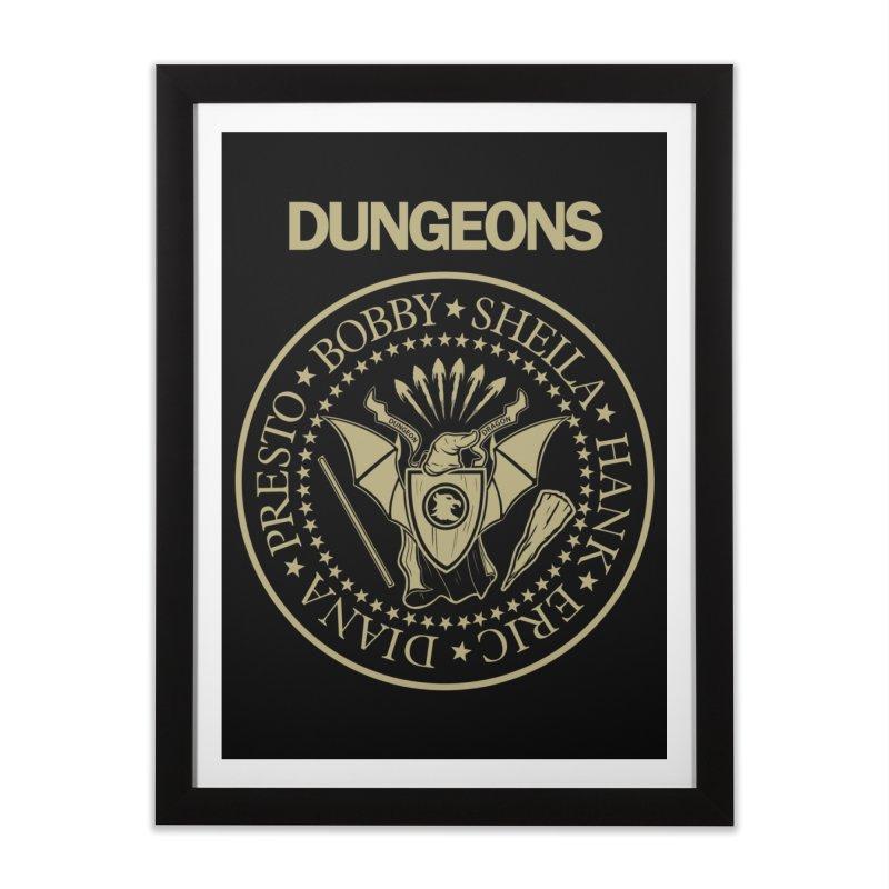 Dungeons Home Framed Fine Art Print by Red Bug's Artist Shop