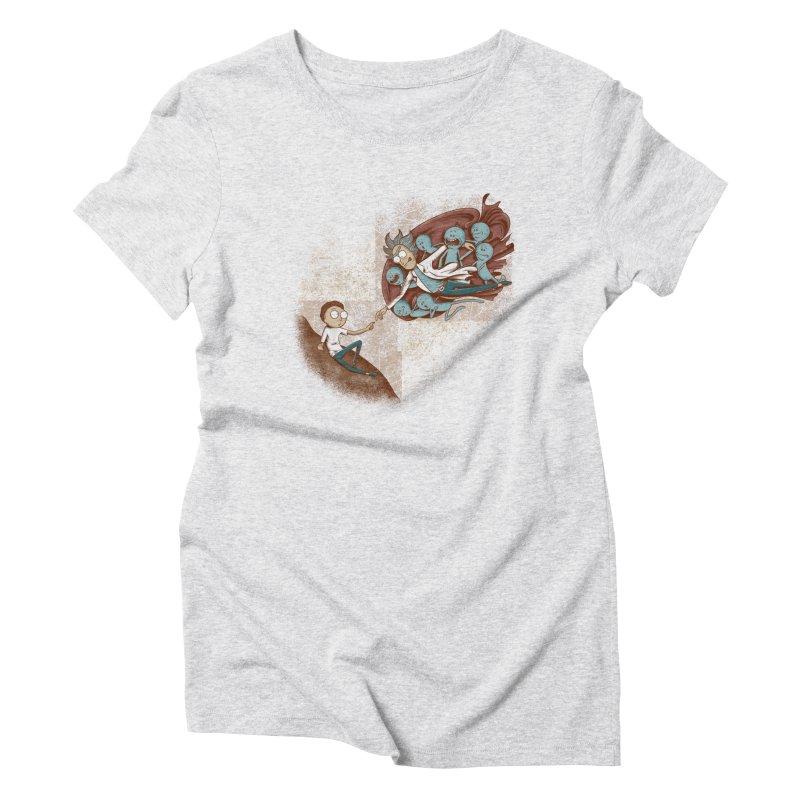 Criação de Morty Women's Triblend T-Shirt by Red Bug's Artist Shop