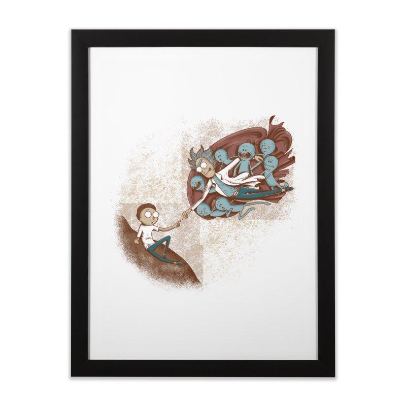 Criação de Morty Home Framed Fine Art Print by Red Bug's Artist Shop