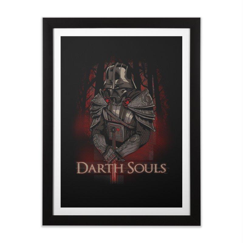 Darth Souls Home Framed Fine Art Print by Red Bug's Artist Shop