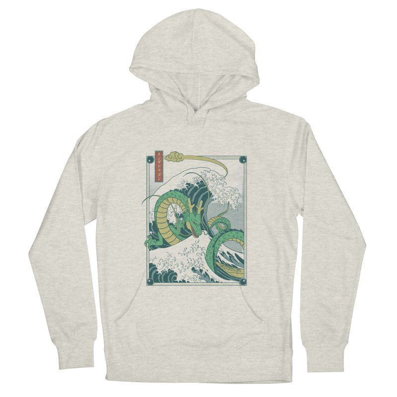 Onda de Shen Long Men's French Terry Pullover Hoody by Red Bug's Artist Shop