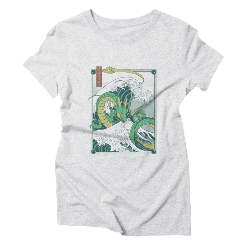 Onda de Shen Long Women's Triblend T-Shirt by Red Bug's Artist Shop