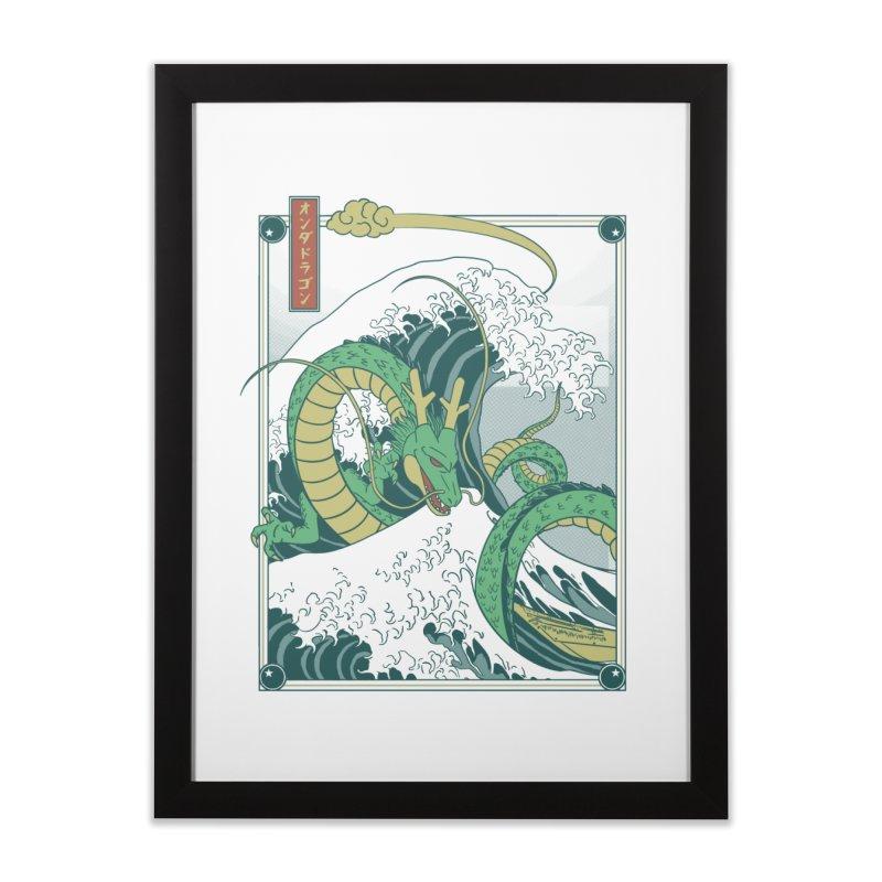 Onda de Shen Long Home Framed Fine Art Print by Red Bug's Artist Shop