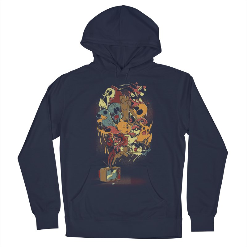 Nostalgia Men's French Terry Pullover Hoody by Red Bug's Artist Shop