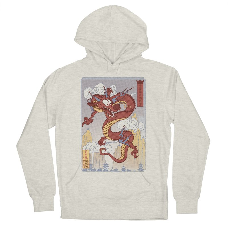 Mushu Men's French Terry Pullover Hoody by Red Bug's Artist Shop