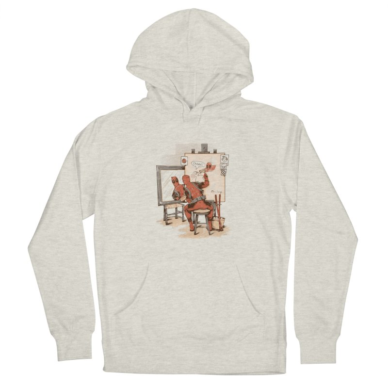 Autorretrato Wade Men's French Terry Pullover Hoody by Red Bug's Artist Shop