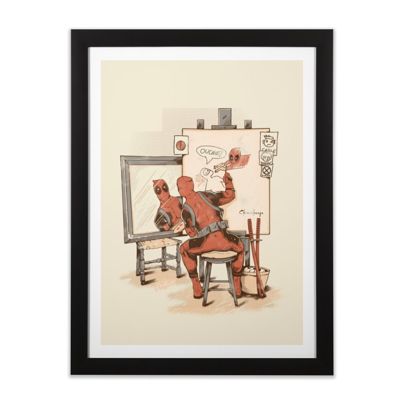 Autorretrato Wade Home Framed Fine Art Print by Red Bug's Artist Shop