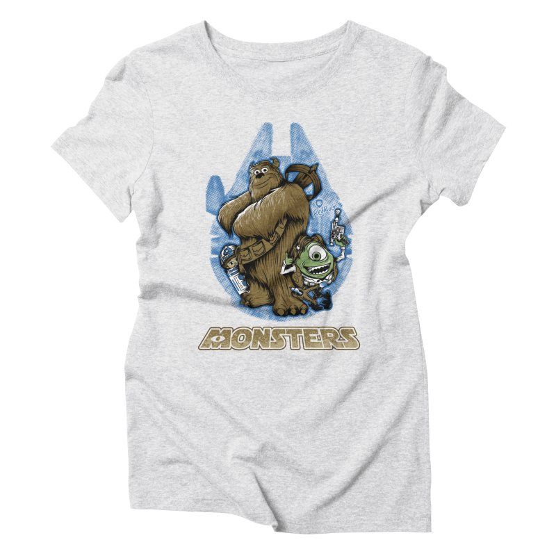 Monsters Women's Triblend T-Shirt by Red Bug's Artist Shop